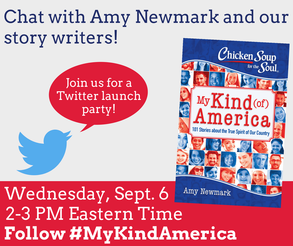 Please join our publisher Amy Newmark for a Twitter party on Wednesday, September 6th, 2017. Here are the details: Date: Wednesday, September 6, 2017 Time: 2 PM Eastern time (11 Pacific time) for one hour Hashtag: #MyKindAmerica